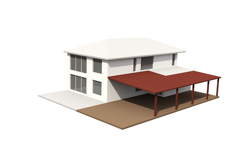 Low level deck and Patio roof