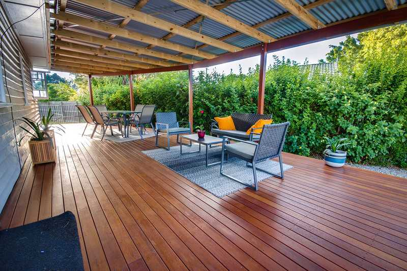 Outdoor deck for family