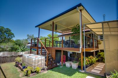 Bundamba Deck with a Flyover Outback Patio Roof