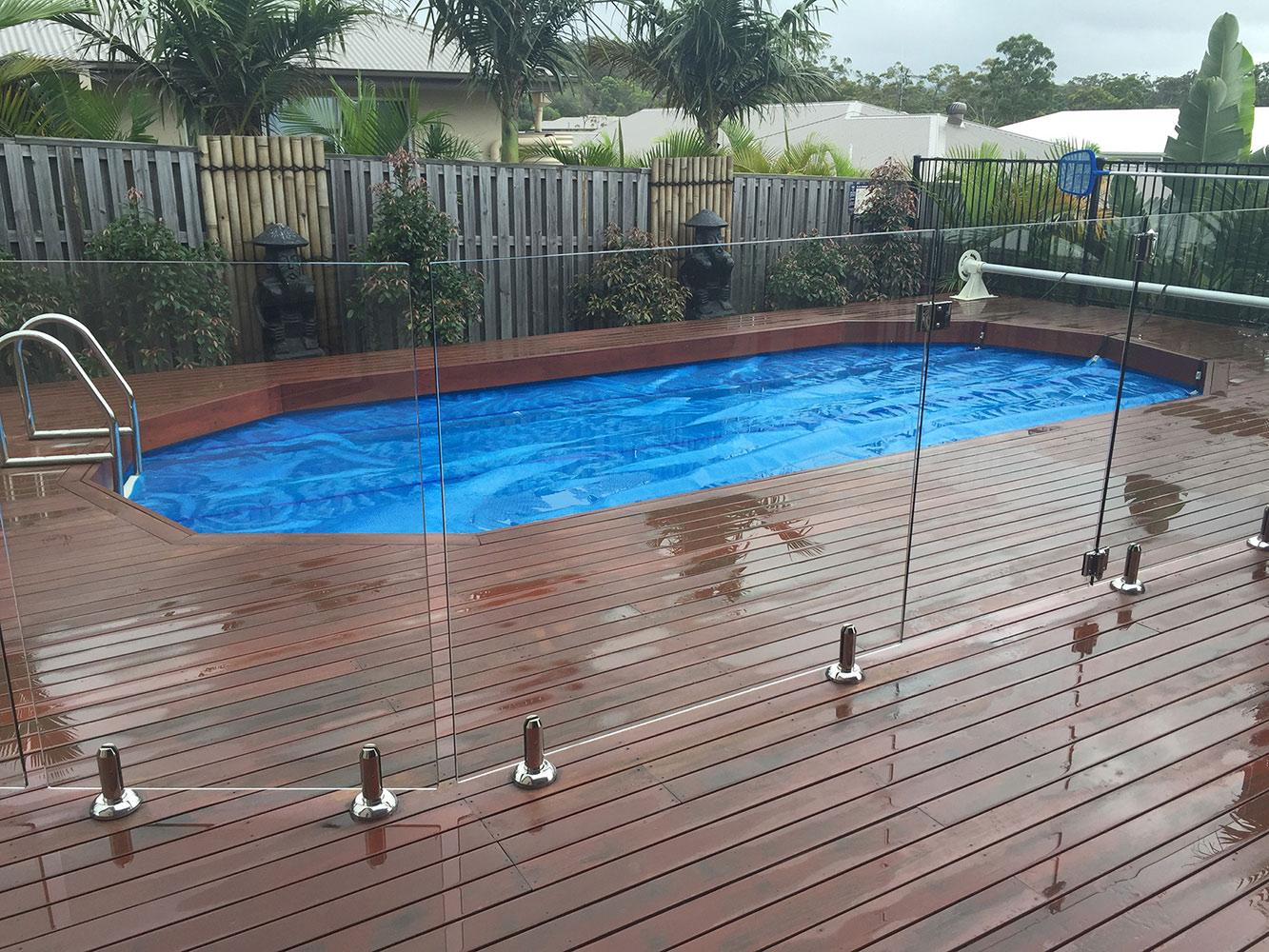 Can I build a deck around an above ground pool?