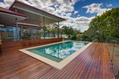Gold Coast Pool Decking & Flyover Patio Roof